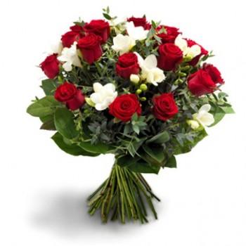 Букет № 64 из роз и фрезии