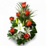 Букет № 26 из роз и лилии