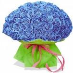 Букет № 57 из 101 синей розы
