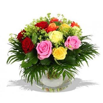 Букет № 47 из разноцветных роз