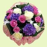 Букет № 34 из роз и хризантем