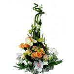 Букет № 56 с орхидеями, розами и антуриумом