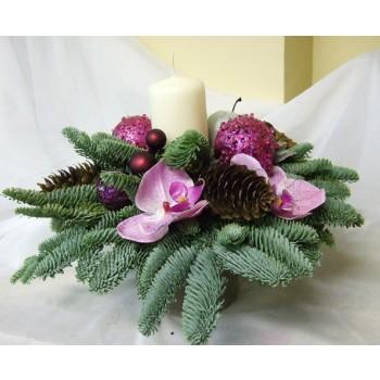 Композиция № 16 из ели и орхидей