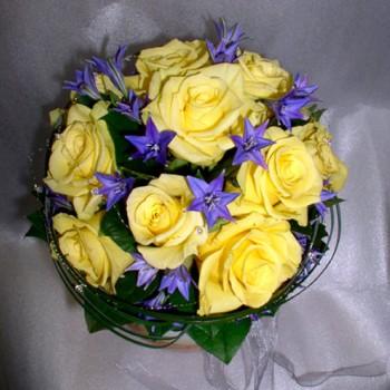 Букет невесты № 20 из желтых роз