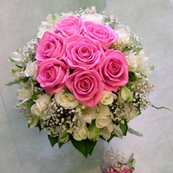 букет невесты № 10 из розовых роз