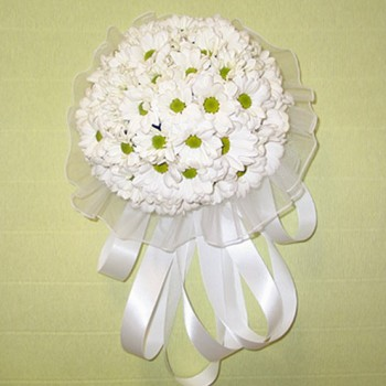 Букет невесты № 14 из белой баккарди