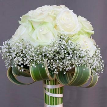 Букет невесты № 16 из белых роз