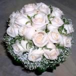 Букет невесты № 22 из белых или розовых роз