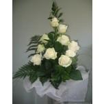 Букет из белых роз № 3